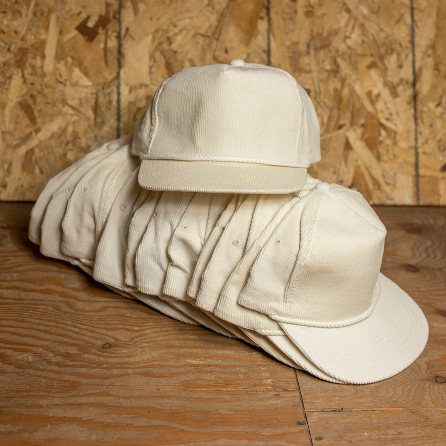 Wholesale Off-White Corduroy Hats (Lot of 12)