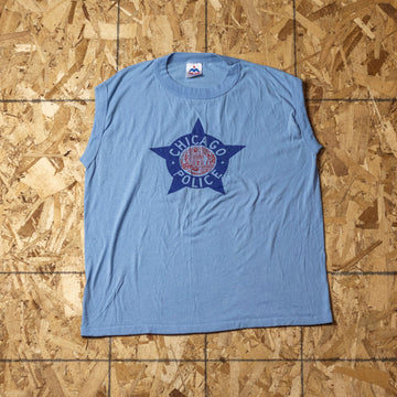 Vintage Chicago Police Single Stitch Tank Top sz XL