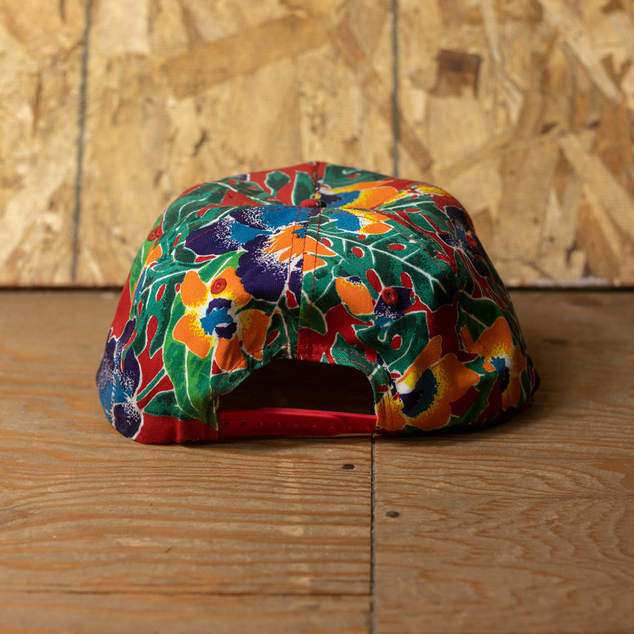 Deadstock FAIF Red Hawaiian Snapback Hat