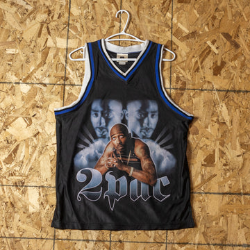 "Vintage Tupac ""Only God Can Judge Me"" Jersey sz M"