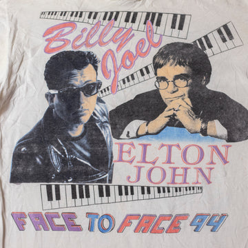 Vintage 90's Billy Joel & Elton John Single Stitch T-Shirt sz XL