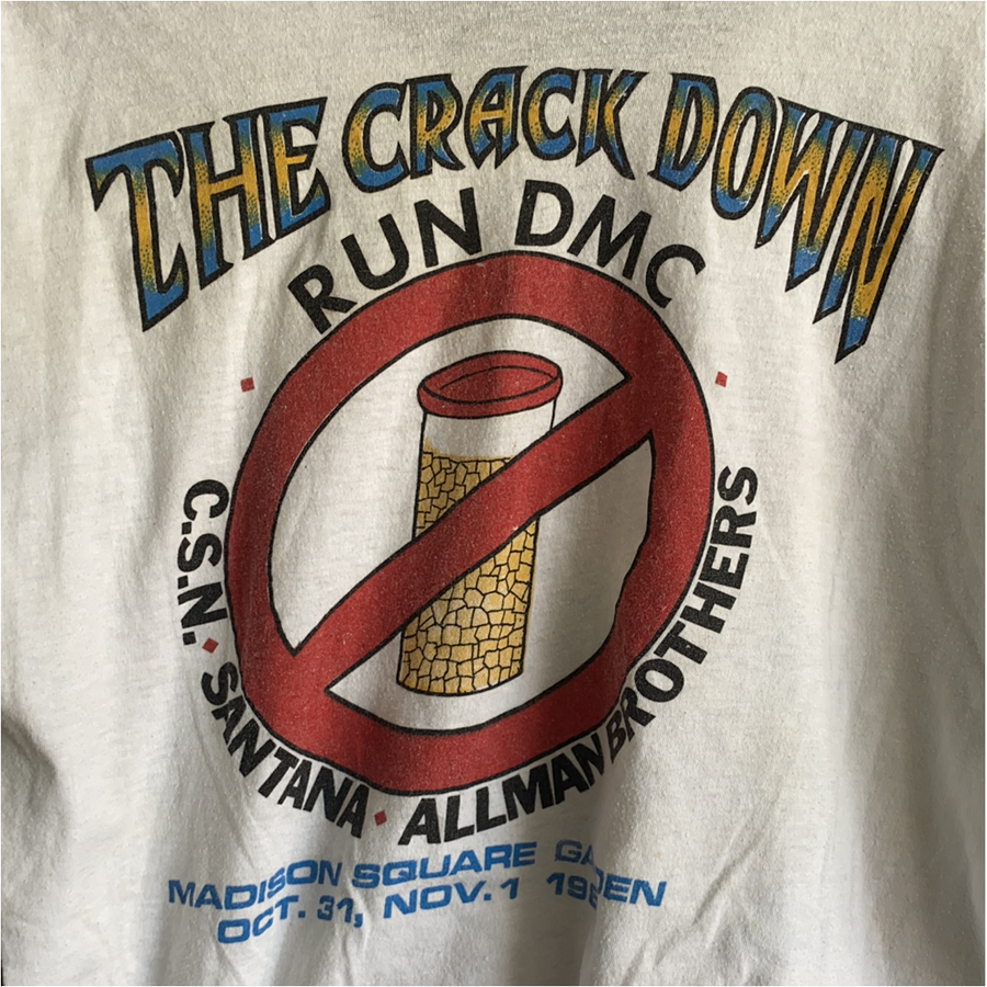 Vintage run DMC raising hell Santana crack down New York tshirt