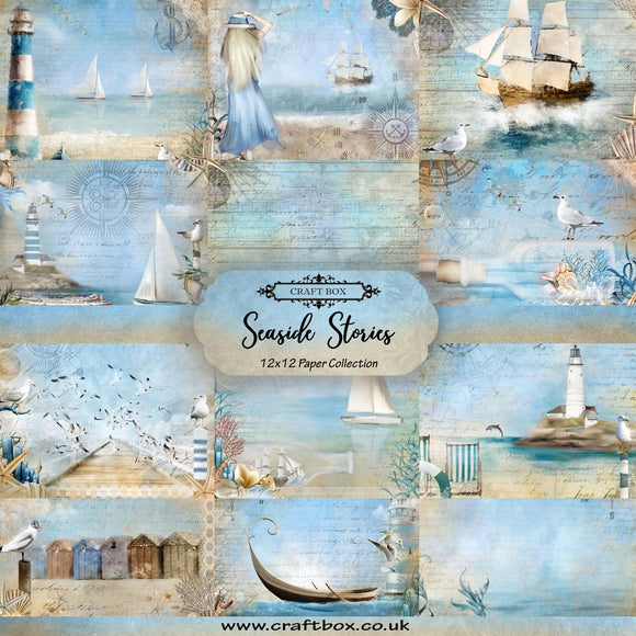 Seaside Stories 12x12 Paper Collection