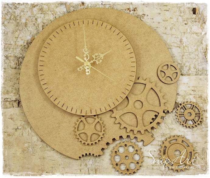 SnipArt MDF Steampunk Clock
