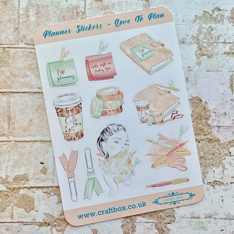 NEW! Planner Stickers - Love To Plan