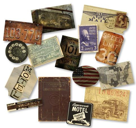 PREORDER - 7gypsies Mini Ephemera - American Vintage