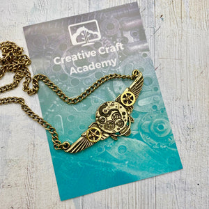 Double Wing Steampunk CCA Charm