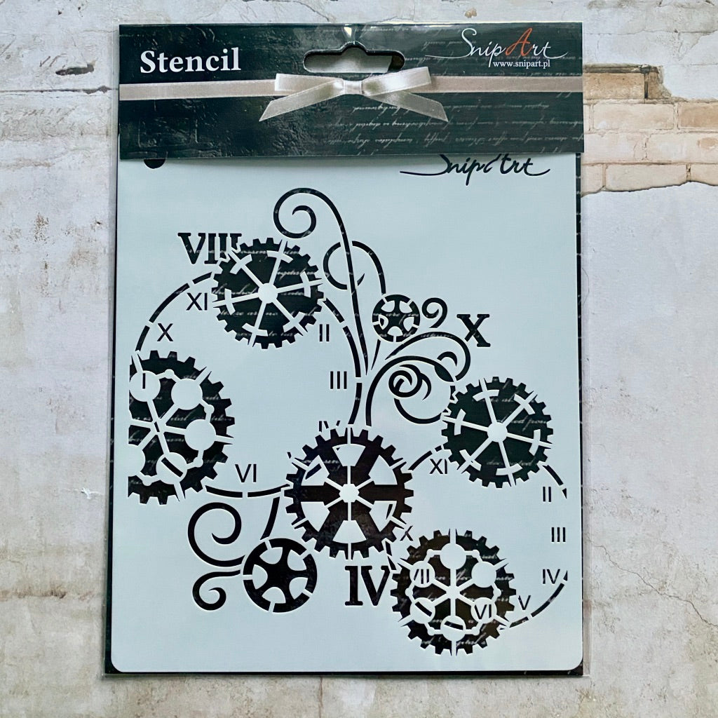 Steampunk Beauty Exclusive Stencil by SnipArt