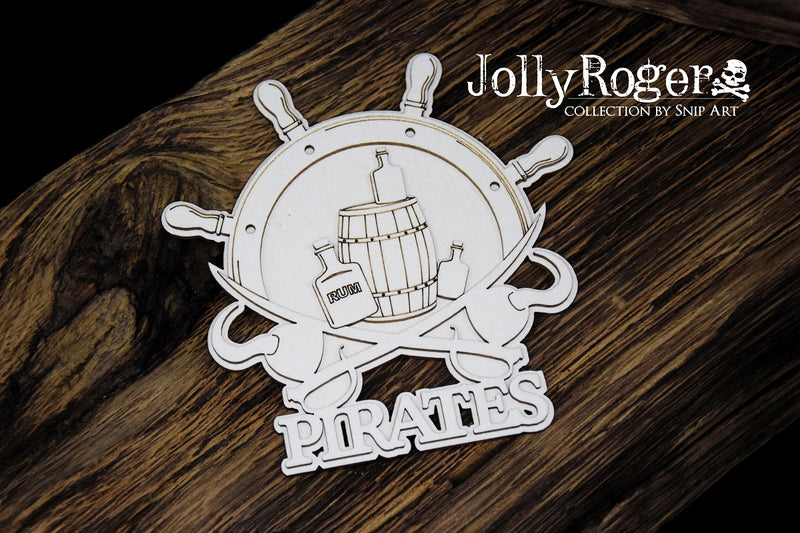 SnipArt - Jolly Roger Collection - Pirates Steering Wheel Layered (M)