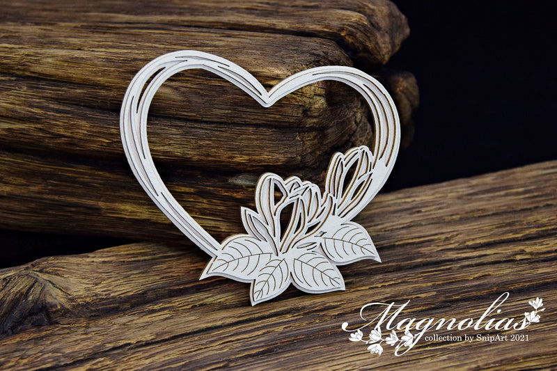 SnipArt - Magnolias - Magnolia Layered Heart Frame