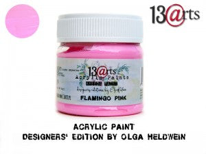 13Arts Acrylic Paint - Flamingo Pink (UK stock)