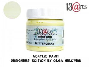 13Arts Acrylic Paint - Buttercream (UK stock)