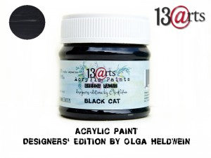 13Arts Acrylic Paint - Black Cat (UK stock)