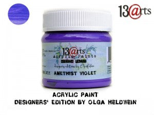 13Arts Acrylic Paint - Amethyst Violet (UK stock)