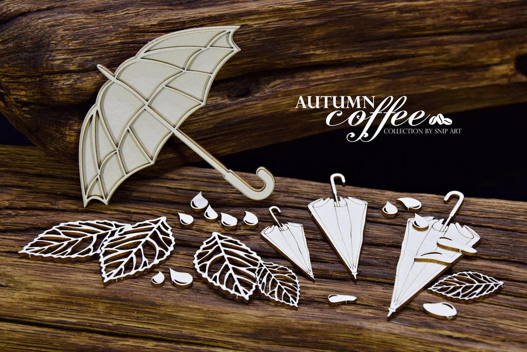 SnipArt - Autumn Coffee - Umbrella Set