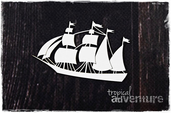 SnipArt Tropical Adventure - Ship Small (S)