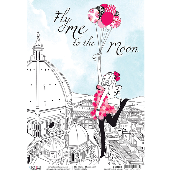Ciao Bella Rice Paper - Italian Luxury Fly Me to the Moon