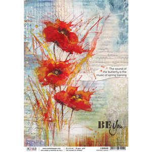Ciao Bella Rice Paper - The Sound of Spring Poppies Dance