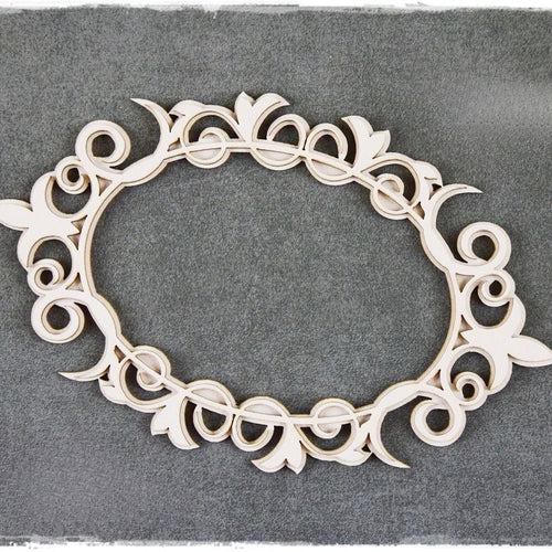 SnipArt - Baroque Oval Doily Layered (M)