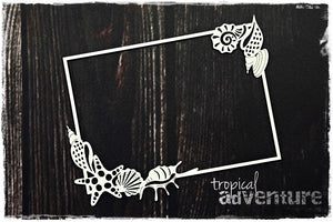 SnipArt Tropical Adventure - Shell Frame Rectangle (M)