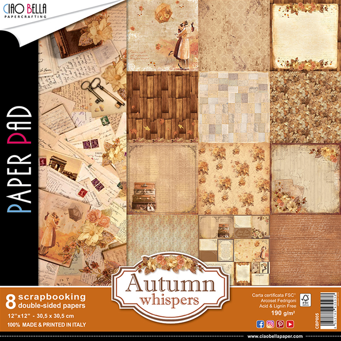 Ciao Bella Paper Pad - Autumn Whispers (8 sheets)
