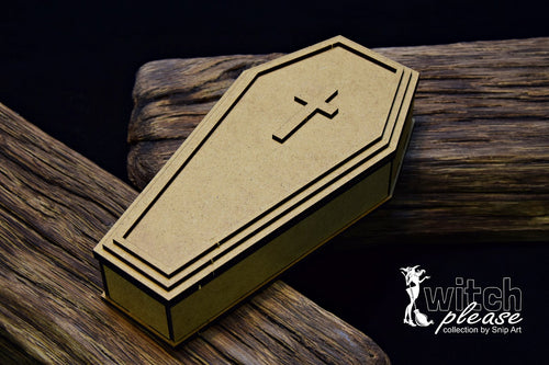 SnipArt - Witch Please - MDF Coffin