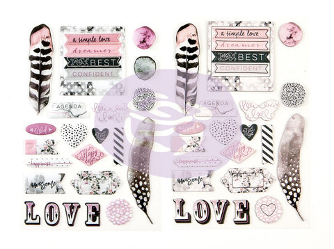 SALE: Prima Stickers - Rose Quartz