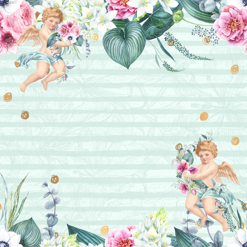 Angels and Flowers Paper Pad (size options available)