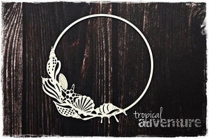 SnipArt Tropical Adventure - Shell Frame Round (M)