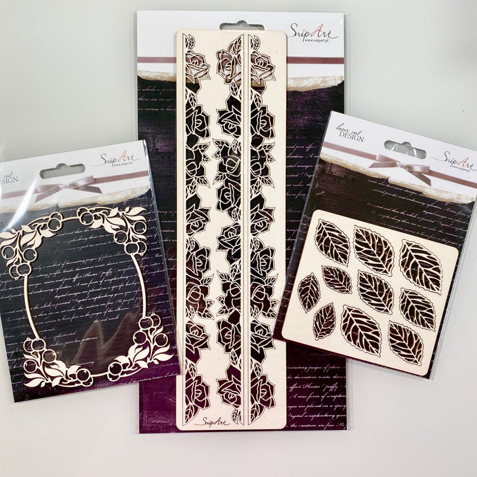 Floral Set - SnipArt Chipboards
