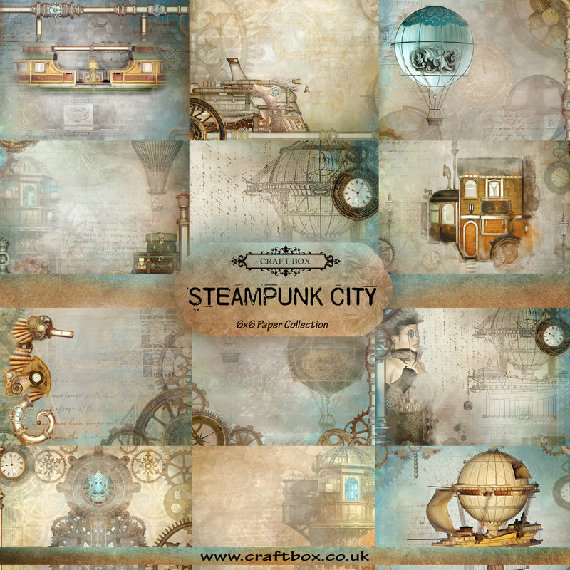 BACK IN! Steampunk City 6x6 Paper Collection