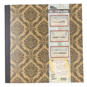 Architextures™ Composition Book 12x12 - Damask