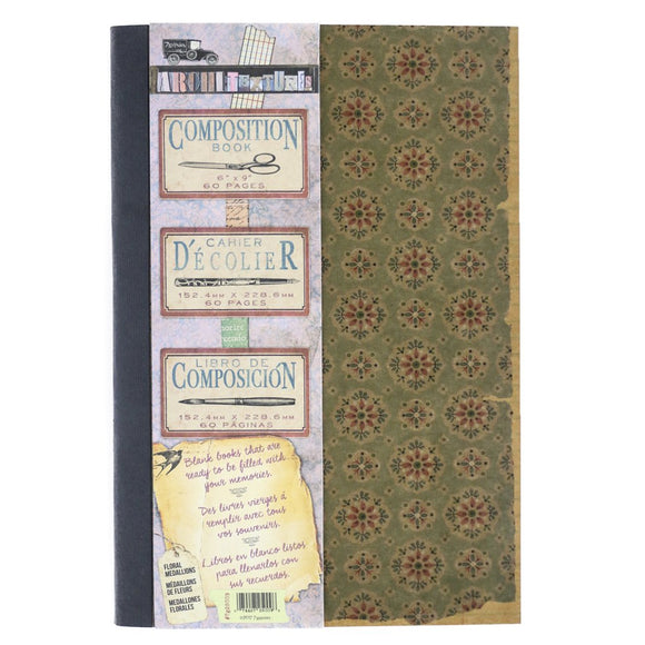 Architextures™ Composition Book 6x9 - Floral Medialions
