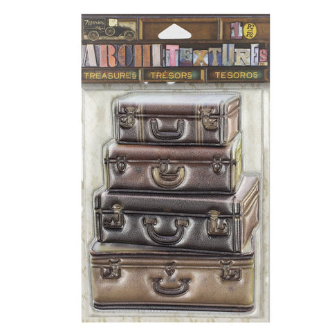 PREORDER - Architextures™ Treasures - Stacked Leather Suitcases