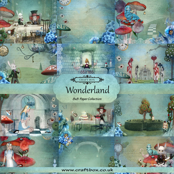 NEW SIZE! Wonderland 8x8 Paper Collection