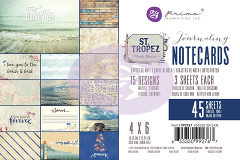 Prima St Tropes 4x6 Journalling Cards