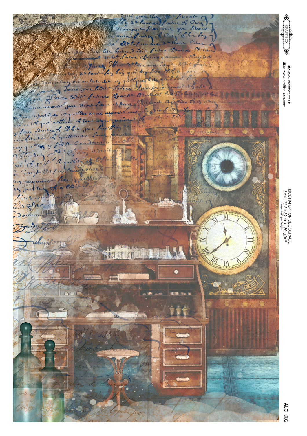 Decoupage Rice Paper - The Alchemist's Desk (A4)