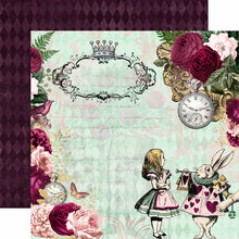 Load image into Gallery viewer, Alice in Wonderland 12x12 Scrapbooking Collection