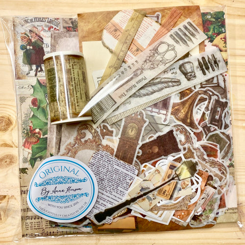 Vintage Christmas Journaling Pack: Christmas Big Book of Journaling and Ephemera Saver Bundle