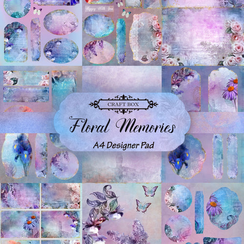 A4 Floral Memories Designer Paper Collection by Craft Box