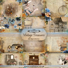 Load image into Gallery viewer, Vintage Treasures 6x6 Paper Pad