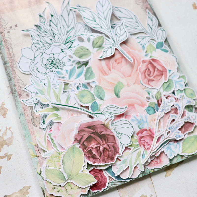 Roses and Peonies Foiled Ephemera