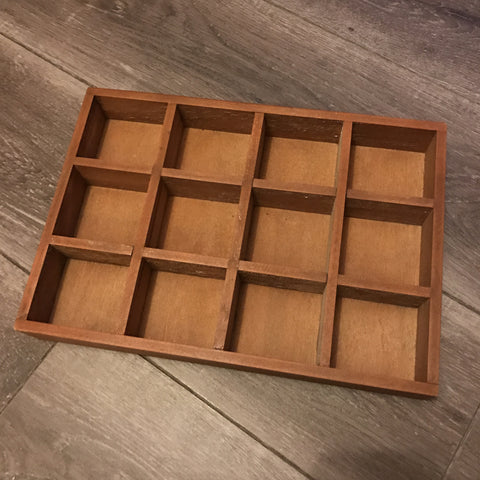 Shadow Box - 12 compartments, solid wood