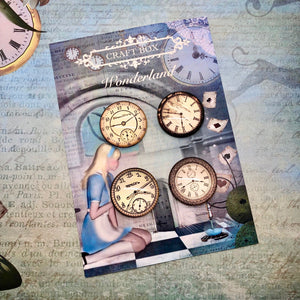 Wonderland Collection - Large Clock Cabochons