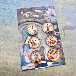 Wonderland Collection - Small Clock Cabochons