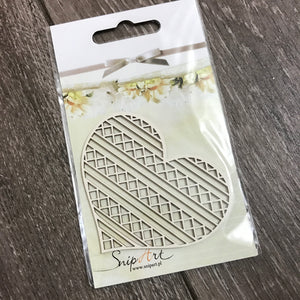 SnipArt Cut-out: Ornate Heart Small 2