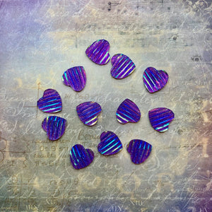 The Dreamer - Purple Resin Hearts