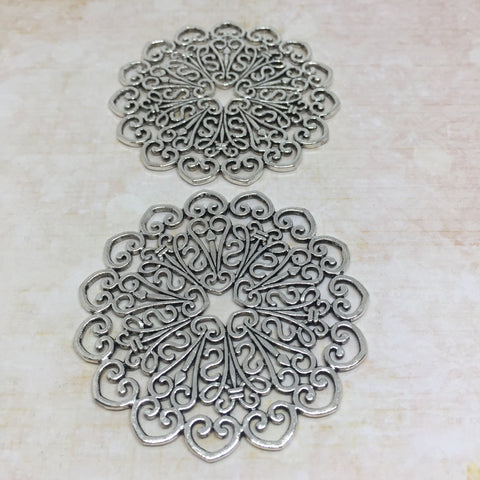 Large Heavy Brass Filigree - set of 2