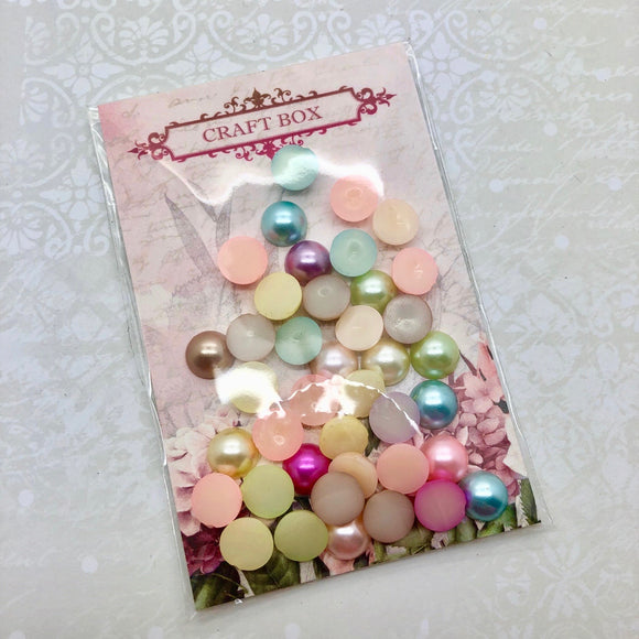 Multicoloured Half Pearls