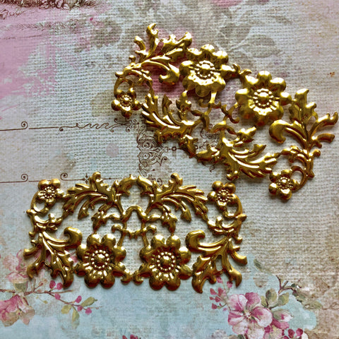 Hardware Collection - Large floral filigrees (Gold)